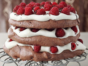 Receta de tarta Pavlova de chocolate