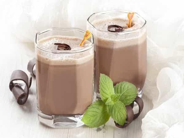 Receta de batido de chocolate