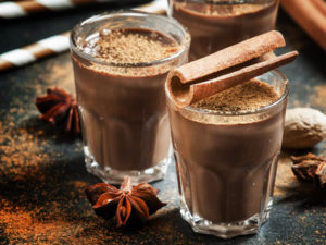 Batido de canela y cacao