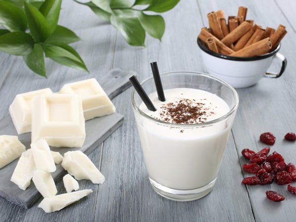Batido de chocolate blanco