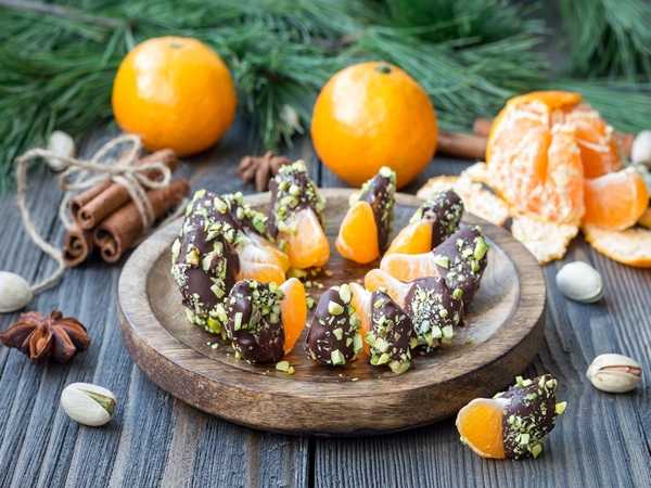 Receta de mandarinas con chocolate