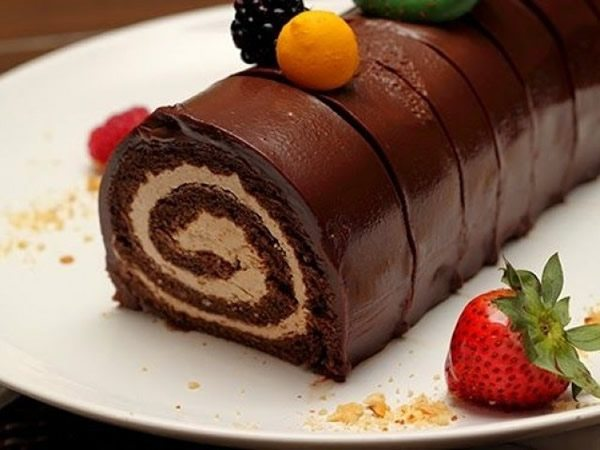 Receta de brazo de gitano de chocolate