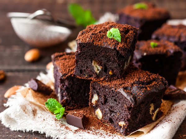 Receta de brownie facil con nueces