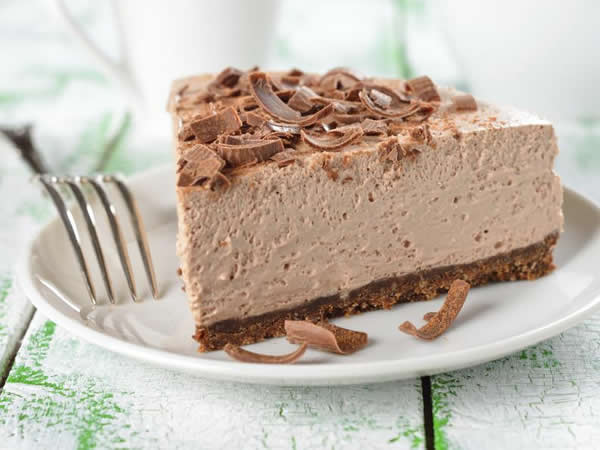 Receta de cheesecake de chocolate