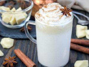 Receta de chocolate blanco a la taza