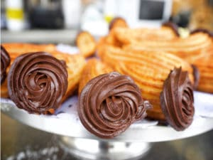 Receta de churros rellenos de chocolate