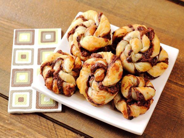 Receta de galletas de hojaldre y chocolate