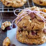 Receta de galletas de nuez y chocolate