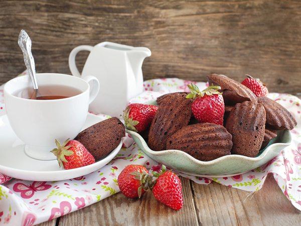 Receta de magdalenas francesas de chocolate