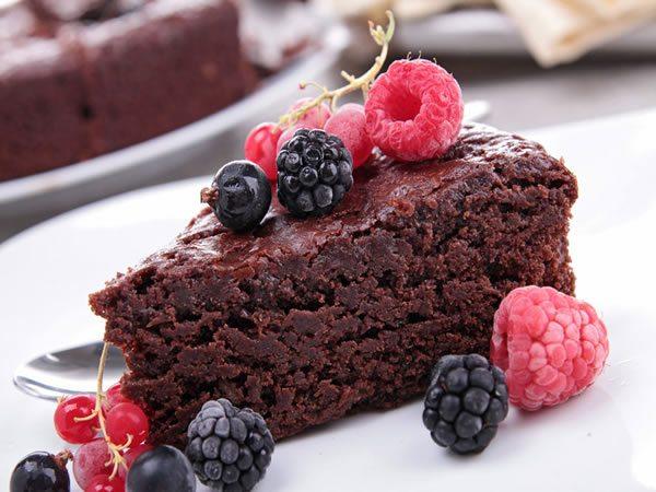 Receta de tarta de frambuesas y chocolate