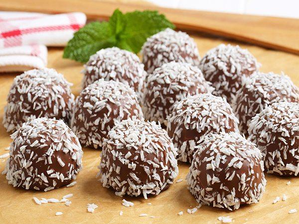 Receta de trufas de chocolate y coco