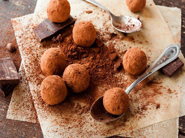 Receta de trufas de chocolate y cacao